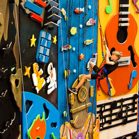 Indoor rock climbing playground - great for any weather